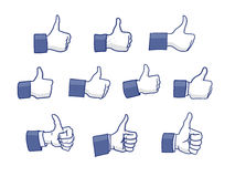 Set of Like Hand icons Stock Image