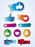 Set of  like stickers Stock Image