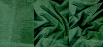 Set of lime green suede leather textures. For background Stock Images