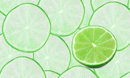 Set of limes composition Stock Image