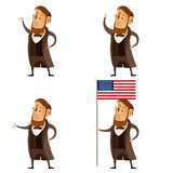 Set of Lincoln presidents. Vector image of a Set of Lincoln presidents Royalty Free Stock Photography