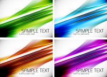 Set of line backgrounds Royalty Free Stock Photos