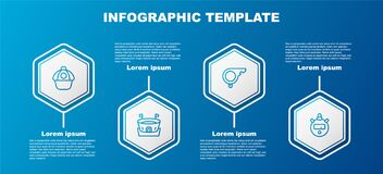 Set line Baseball cap, arena, Whistle and Stopwatch. Business infographic template. Vector