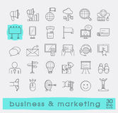 Set of line business and marketing icons. Stock Photography