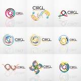 Set of line circles logos Royalty Free Stock Photo