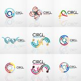Set of line circles logos Royalty Free Stock Photography