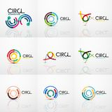 Set of line circles logos royalty free illustration