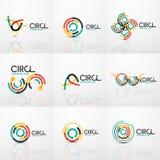 Set of line circles logos Royalty Free Stock Images
