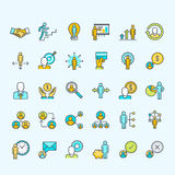 Set of line color people icons for business and finance Stock Photo