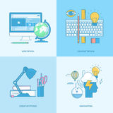 Set of line concept icons for graphic and web design Royalty Free Stock Image