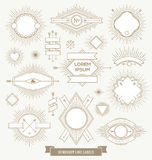 Set of line design emblem, sign and labels Royalty Free Stock Images