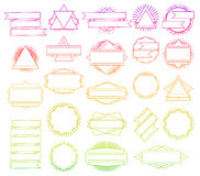 Set of line design hipster logo templates Royalty Free Stock Images