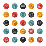 Set line flat icons. Vector collection user interface Royalty Free Stock Images