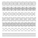 Set of line geometric hipster vintage design elements55 Stock Photography