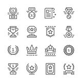 Set line icons of award. Isolated on white. Vector illustration Royalty Free Stock Images