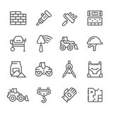 Set line icons of constructing industry Royalty Free Stock Images