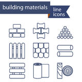 Set of line icons for DIY, construction, building Stock Image