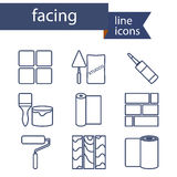 Set of line icons for DIY, finishing materials Stock Photo