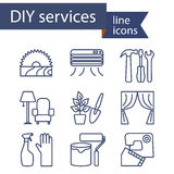 Set of line icons for DIY services Royalty Free Stock Photos