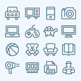 Set of line icons for e-commerce Royalty Free Stock Image