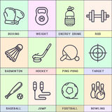 Set of line icons in the flat style. Stock Image