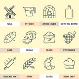 Set of line icons in the flat style. Stock Photography