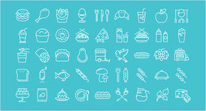 Set Line Icons Food Stock Photos