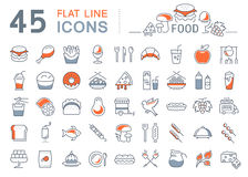 Set Line Icons Food Stock Image