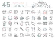 Set Line Icons Food Royalty Free Stock Images