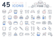 Set Line Icons Food Stock Photo