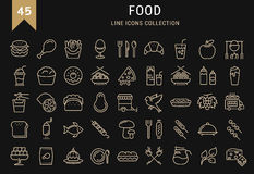 Set Line Icons Food Royalty Free Stock Image
