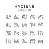 Set line icons of hygiene Royalty Free Stock Photography