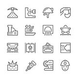 Set line icons of mining Royalty Free Stock Photography