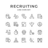 Set line icons of recruiting Royalty Free Stock Photo