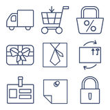 Set of line icons for shopping, e-commerce Stock Image