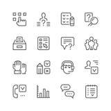 Set line icons of survey Royalty Free Stock Image