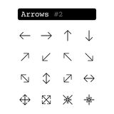 Set line icons. Vector. Arrow Stock Image
