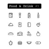 Set line icons. Vector. Food & Drink Stock Photos