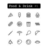 Set line icons. Vector. Food Stock Image