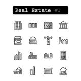 Set line icons. Vector. Real estate Royalty Free Stock Photography
