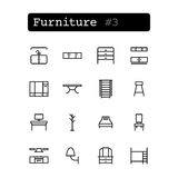 Set line icons. Vector. Shopping, furniture Stock Photos
