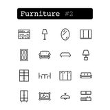 Set line icons. Vector. Shopping, furniture Stock Images