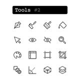 Set line icons. Vector. Tools editor Stock Image