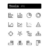 Set line icons. Vector. Tools editor Royalty Free Stock Photos