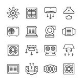 Set line icons of ventilation Royalty Free Stock Image