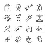 Set line icons of welding Stock Photography