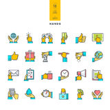 Set of line modern color icons Royalty Free Stock Photos