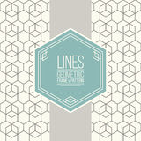 Set of line pattern and linear frame Royalty Free Stock Photo