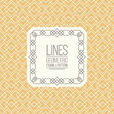 Set of line pattern and linear frame Royalty Free Stock Photos