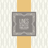 Set of line pattern and linear frame Royalty Free Stock Photography